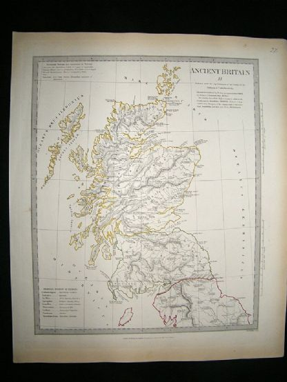 Ancient Britain: 1834 Antique Map. SDUK | Albion Prints